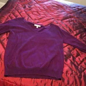 Banana Republic vneck sweater in purple